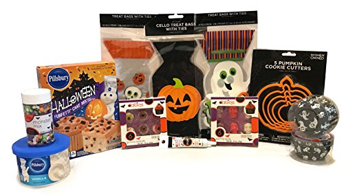 Halloween Baking and Treat Kits! Halloween Cupcake Mix, Halloween Cookie Cutters, Halloween Treat Bags - Halloween Party Supplies! (Cupcake & Cookie Kit- Dallies Monsterously Fun Kit) (Halloween Popcorn Balls Desserts)