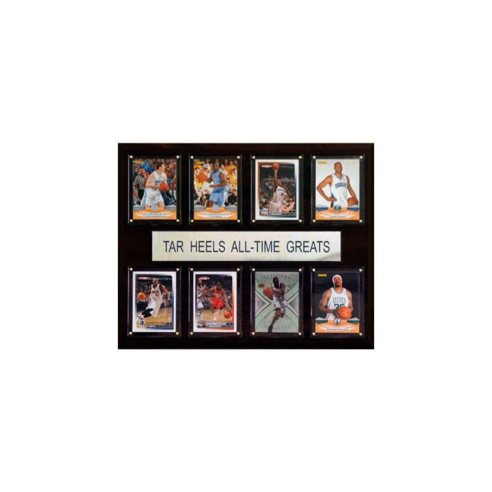 NCAA Basketball North Carolina Tar Heels All Time Greats Plaque   Framed College Photos, Plaques and Collages