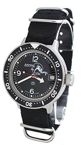AMPHIBIA 200m VOSTOK AUTOMATIC MECHANICAL WATCH WITH CUSTOM BEZEL! NEW! 2416/420634 (Vostok Mechanical Wrist Watch)