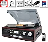 Best Speed Turntable With LCD Displaies - Boytone BT-17DJM-C 3-Speed Stereo Turntable, 2 Built in Review