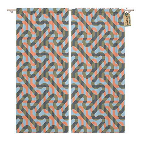 Greek Key Design Cross - Golee Window Curtain Greek Modified Cross Tee Pattern Key Geometric Home Home Decor Rod Pocket Drapes 2 Panels Curtain 104 x 63 inches