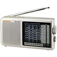 Sangean SG-622 FM / MW / SW 1-10 Compact 12 Band World Receiver