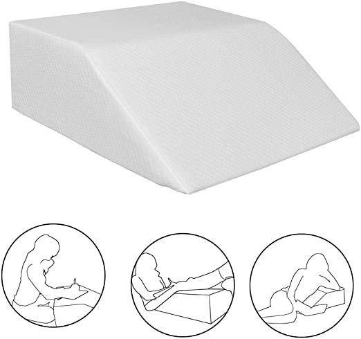 "24/""*21/""*8/"" Elevating Bed Wedge Foam Leg Rest Wedge Positioner Back Pain Pillow"