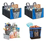 Eco-Friendly Grocery Bundle. Busy Life Foldable Organizer, Insulated Food Bag, and Reusable Tote Bags for Shopping at the Market, Bringing Home Without Spills, and Hauling into the Kitchen. (4 Units)