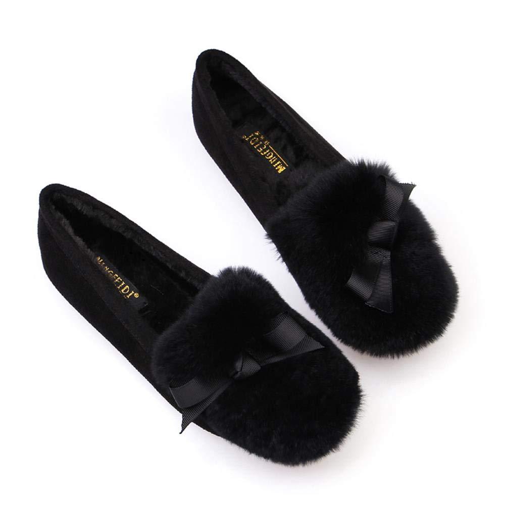 Nyrgyn Herbst Und Winter Plus Samt Wilde Große Flache Schuhe Aus Baumwolle Mutterschaft Schuhe