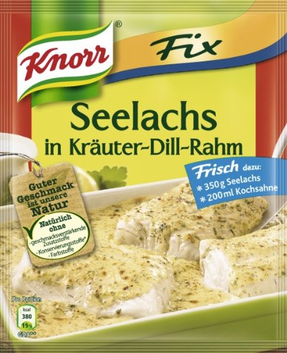 Knorr Fix creamy pollack with herbs and dill (Seelachs in Kräuter-Dill-Rahm) (Pack of 4) (Knorr White Sauce compare prices)