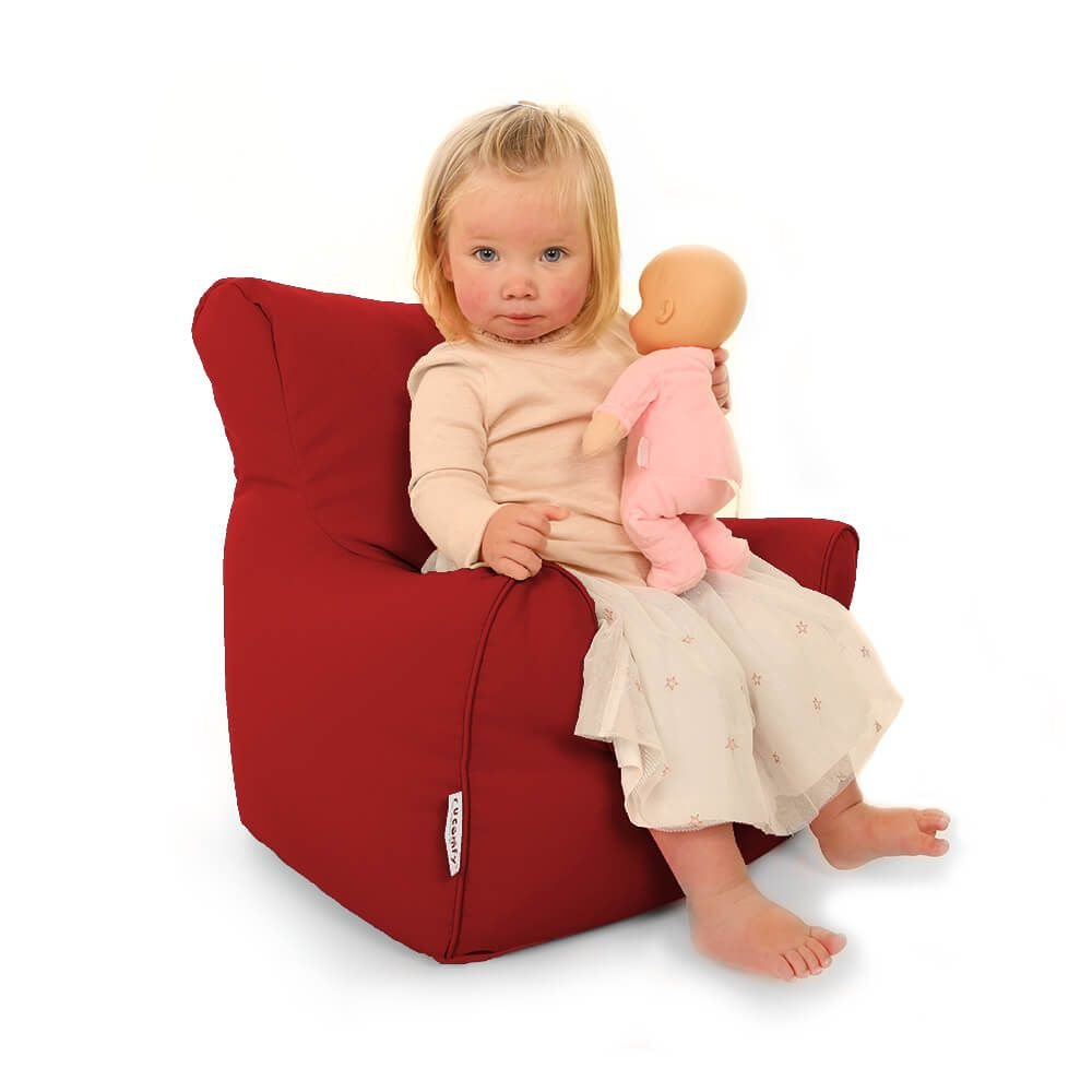 Trend Toddler Armchair Beanbags (Red) rucomfy Bean bags
