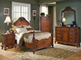 Madaleine 5 PC Eastern King Bedroom Set with 2 Nightstand by Homelegance in Warm Cherry