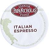 PapaNicholas Coffee Single Serve Coffee Cups Fits Keurig K Cup Brewers, Italian Espresso, 12 Count