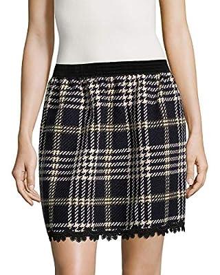 Anna Sui Womens Tartan Mini Skirt, S Black