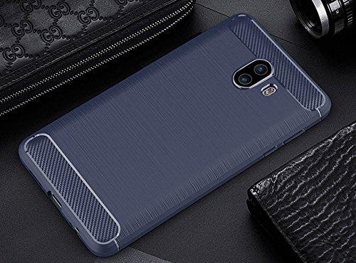 Funda Samsung Galaxy C10,Funda Fibra de carbono Alta Calidad Anti-Rasguño y Resistente Huellas Dactilares Totalmente Protectora Caso de Cuero Cover Case Adecuado para el Samsung Galaxy C10 C