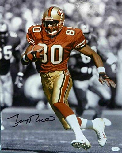 - Signed Jerry Rice Photograph - 16x20 SEPHIA 15437 - Autographed NFL Photos