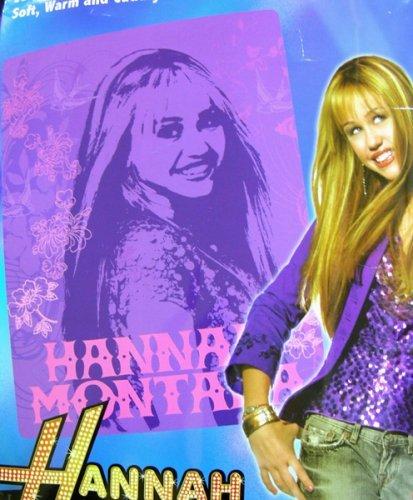 Purple Hannah Montana Throw Blanket - Hannah Montana Fleece Blanket (Montana Blanket Hannah)