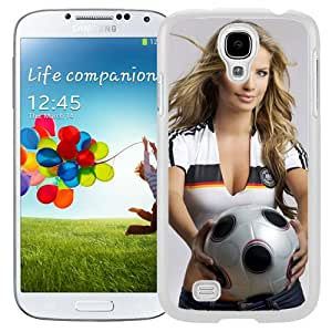 Unique Designed Cover Case For Samsung Galaxy S4 I9500 i337 M919 i545 r970 l720 With Soccer Girl Girl Mobile Wallpaper (2) Phone Case