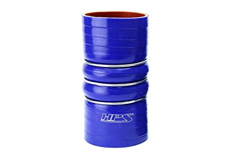100 PSI Maximum Pressure 6 Length 3-1//2  4 ID HPS CAC-350-400-HOT Silicone High Temperature 4-ply Aramid Reinforced Charge Air Cooler CAC Hose Hot Side Orange