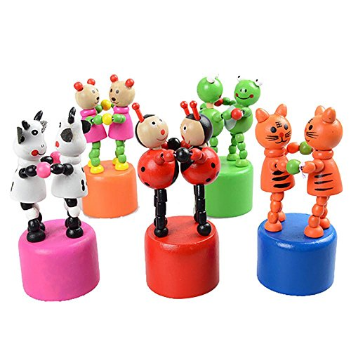SMTSMT Kids Dancing Stand Colorful Rocking Pas DE deux Wooden Toy