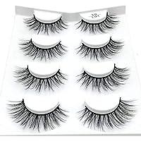 LIFANG 2/4 Pairs Natural False Eyelashes Lashes Long Makeup 3D Mink Lashes Eyelash Extension Mink Eyelashes for Beauty…