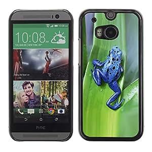 TopCaseStore / la caja del caucho duro de la cubierta de protección de la piel - Poison Animal Frog Green Leaf - HTC One M8