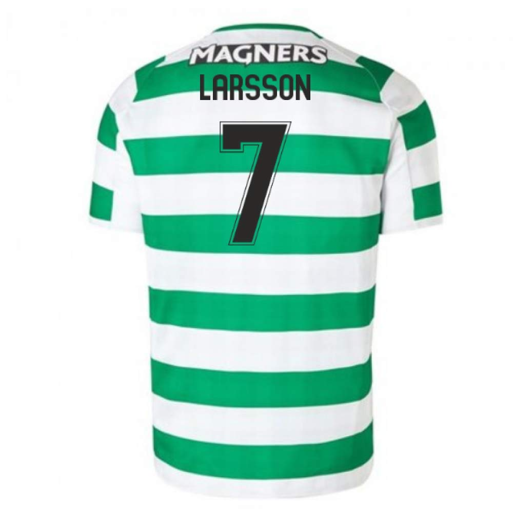 2018-2019 Celtic Home Football Soccer T-Shirt Trikot (Henrik Larsson 7)