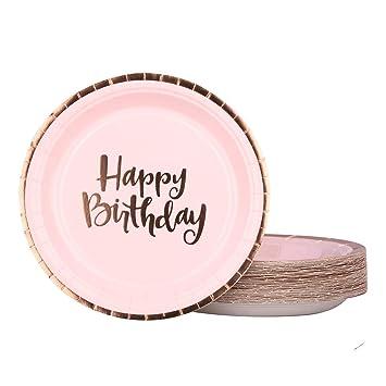 Amazon.com: Ottin - Platos de fiesta de cumpleaños para 50 ...