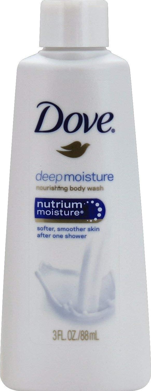 Dove Nutrium Moisture Deep Moisture Body Wash, 3 Ounces (Pack of 12)