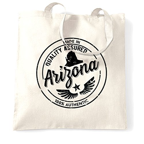 Made in Arizona Grand Canyon Phoenix Cactus Saguaro Distressed Shopping Carrier Tote - In Arizona Tucson Shopping