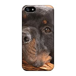Awesome Purecase Defender Tpu Hard Case Cover For Iphone 5/5s- Brown Dog In A Basket