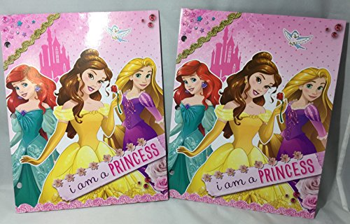 Set of 2 Disney Princess Folders (2 Pockets, 3 Rings) - Disney