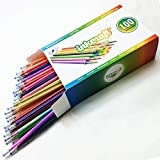 100 Gel Pen Refills - Ideal for Adult Coloring Books, Scrapbooking, Crafts and Kids Projects - Premium Quality Refills - Glitter, Metallic, Fluorescent, Pastel, Neon, Rainbow, Standard Colors