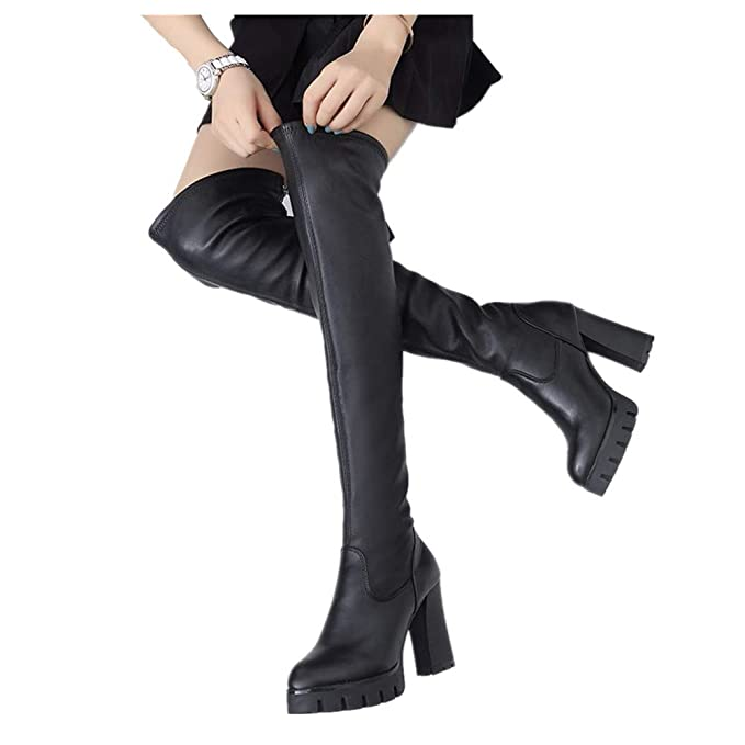 adeb799820e0f PLOT❤Women's Fashion Winter Over-The-Knee Boots Ladies Boot Tassel ...
