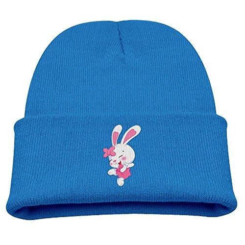 Cartoon Bunny Children Girls&Boys Winter Warm and Comfortabl Cute Pattern Knitting Hat Beanie Skull Capone Size Royalblue (Rayman Golf)