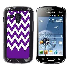 Dragon Case - FOR Samsung Galaxy S Duos S7562 - Purple bottom white waves - Caja protectora de pl??stico duro de la cubierta Dise?¡Ào Slim Fit