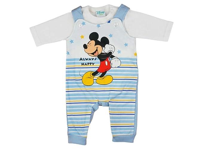 Disney Baby Micky Maus Baby Jungen Langarm Strampler