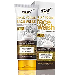 WOW Skin Science Greek Yoghurt Face Wash – No Parabens, Sulphate, Silicones & Color (100mL)