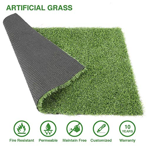 Cosyzone Artificial Grass Synthetic Turf Rug Lawn Mat Pad for Dog Pet Indoor Outdoor Landscape Patio (3.28ft x 2.29ft=7.5 Sqaure ft)