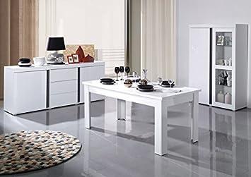 Salle à Manger Complète Blanc Et Noir Lavigne Meuble House