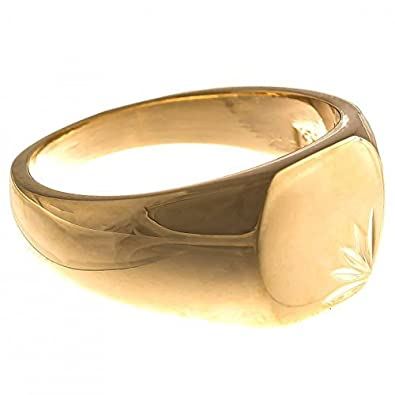 0e4846b9dba8e ISADY - Lovely Gold - Bague Mixte Homme Femme - Chevalière - Plaqué Or 750