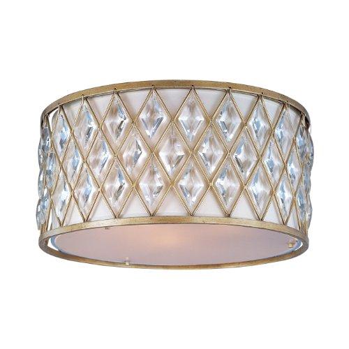 Maxim Lighting 21452OFGS 3-Light Diamond Flush Mount Ceiling