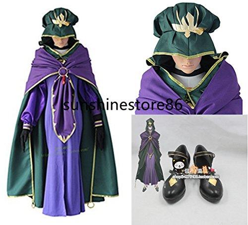 「ノーブランド品」Fate/Grand Order メディア リリィ風 コスプレ衣装+靴+帽+手袋 全セット