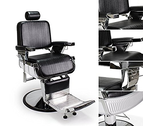 DUO 2 BLACK LINCOLN Barber Chairs Barbershop & Beauty Salon Furniture & Equipment by BERKELEY (Image #3)