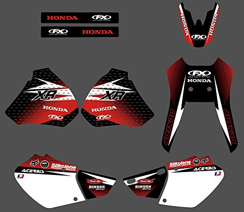 DST0185 3M Customized Motorcross Stickers Motorcycle Decals Graphics Kit for Honda XR250 XR400 1996 1997 1998 1999 2000 2001 2002 2003 2004 -