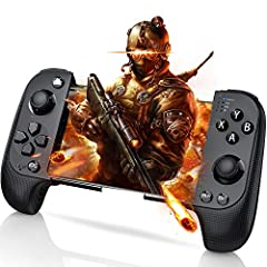 ☆ HUIMEOW Phone Controller, Not Only Ios Game Controller, But Also Android Game Controller. Support Both Android and IOS System ☆Our mobile gaming controller & joystick is designed for you playing shooting games such as PUBG on iPhone / A...