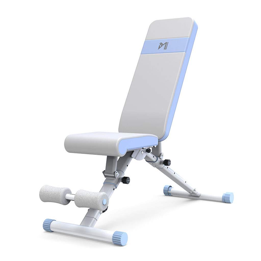 腹筋器具 ダンベルベンチホーム多機能仰臥位のボードフィットネス椅子フィットネス機器仰臥位ボードベンチプレスベンチ (Color : Blue, Size : 146*129*117cm) 146*129*117cm Blue B07K6JNMZT