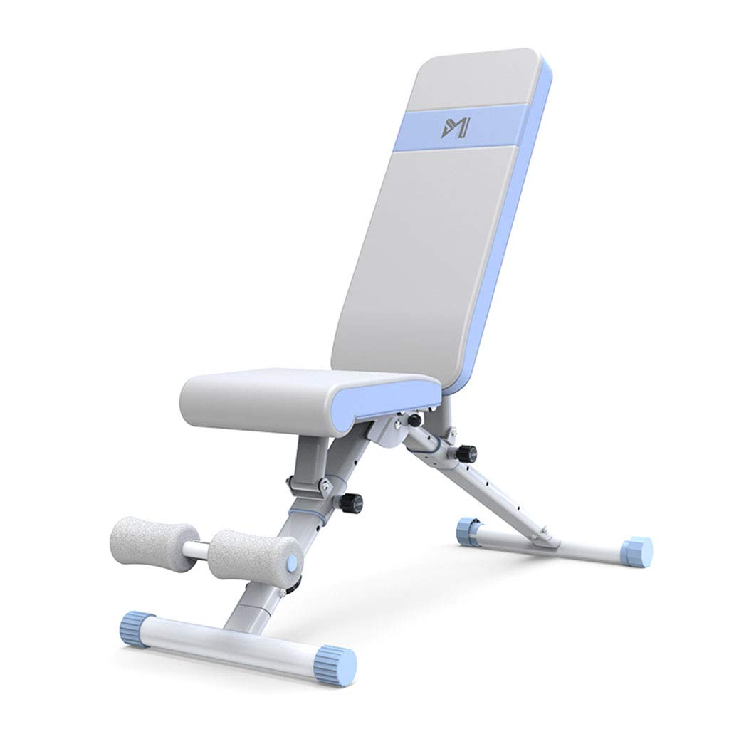 Standard Weight Benches Dumbbell Bench Home Multi-Function Supine Board Fitness Chair Fitness Equipment Supine Board Bench Press Bench (Color : Blue, Size : 146129117cm)