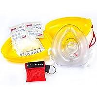 CPR Maske Schlüsselanhänger Ring Emergency Kit Rescue Face Shields mit Einweg-Ventil Atem Barriere für Erste Hilfe oder AED Training