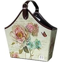 Gizhome Gazetelik Tek Saplı 35X19X43 Beyaz Çiçekli Kelebekli