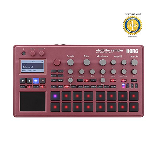 Korg Electribe Sampler Music Production Station Red with V2.0 Software and 1 Year EverythingMusic Extended Warranty Free