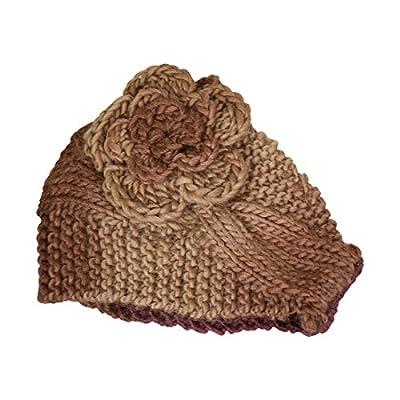 Ear Muffler Headwrap for Women Knit Earmuff with Flower