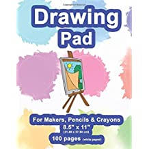 "Drawing Pad: 8.5"" X 11"", Personalized Drawing Sketchbook, 100 pages, Durable Soft Cover,Easel Pad-[Professional Binding]"