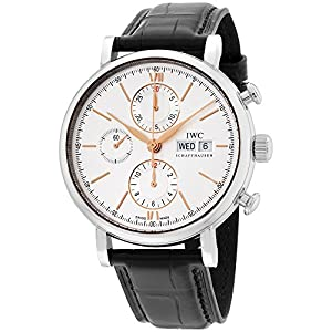 IWC Portofino Chronograph Stainless Steel Silver-Plated Dial Men's Watch IW391022